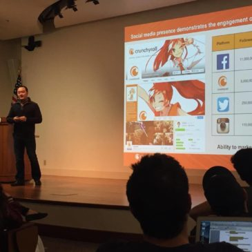 Kun Gao, Founder of Crunchyroll Addresses Newton Lecture Series