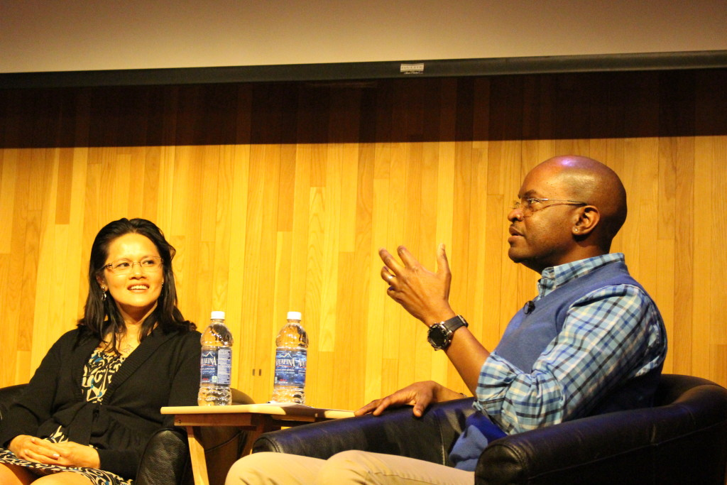 Yahoo! Lead Search Engineer, Mai Le and Cedric Brown, Chief of Community Engagement at the Kapor Center